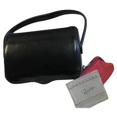 Pretty Ronay Black Leather Structured Handbag