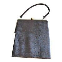 New Reptile Dover Brown Handbag