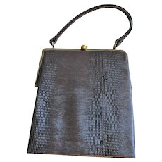 New Reptile Dover Brown Handbag