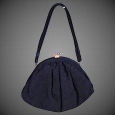 Darling Vintage Black Fabric Purse