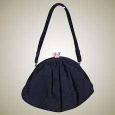 Darling Vintage Black Fabric Purse
