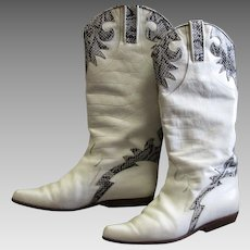 Fabulous White Charles David Boots
