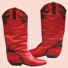 Red With Black Snake Charles David Boots
