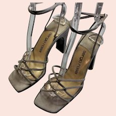 Made In Italy Square Toe Fashion Heels