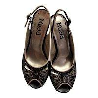 Mudd Brown & Tan Stitched Platform Heels