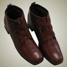 Nice Brown Leather Ankle Boots