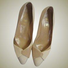 Two Tone Bruno Magli Wedge Shoes