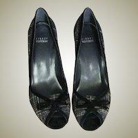 Stuart Weitzman Black & White Wool & Leather Heels