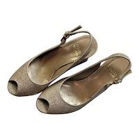 Stewart Weitzman Summer Tan Wedge Shoes