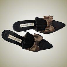 Fabulous Satin Manolo Blahnik Stylish Heels