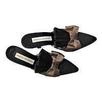 Spectacular Manolo Blahnik Black & Brown Heels