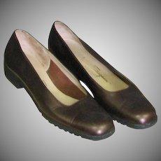 Handsome Ferragamo Copper Metallic Shoes