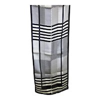 Fabulous Black & White Adrienne  Vittadini Silk Scarf
