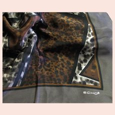 Pretty Brown Tones Echo Silk Scarf