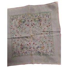 Made In Japan Silkscreen Silk & Rayon Scarf