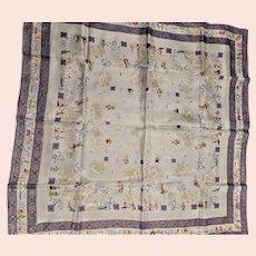 Made In Japan Silkscreen Silk Scarf