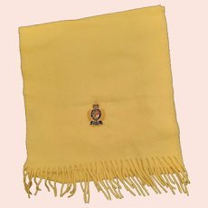 Men's Yellow Cashmere Scarf
