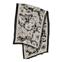 Black & White Brighton Silk Scarf
