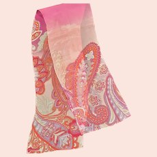 Sheer Pink Silk Jones Of New Youk Scarf