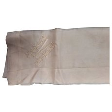Beautiful Silk Monogrammed M Pocket Scarf/Hanky