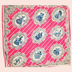 Pure silk Hand Screen Printed Old Scarf