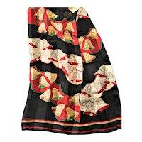 Liz Claiborne Signed Silk Christmas Sccarf