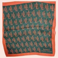 Tiny Signed Ralph Lauren Silk Pocket Scarf