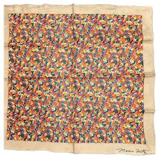 Colorful Mario Forte Signed Silk Scarf