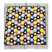 Signed Cecil Beaton Beautiful Geometric Scarf