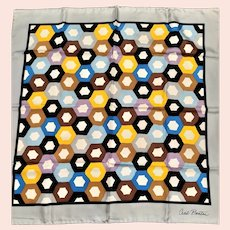 Signed Cecil Beaton Beautiful Geometric Scarf