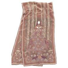 Beautiful Klimt Designed Bottega Veneta Silk Scarf