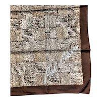 Vintage Signed Bill Blass Silk Scarf