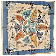 Gorgeous Hermes-Paris Pythagore Signed Silk Scarf