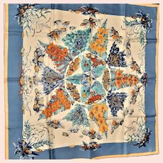 Gorgeous Hermes-Paris Pythagore Signed Silk Scarf