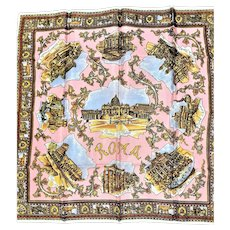 Souvenir Rome Scarf Showing Ruins & Buildings