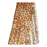 Leopard Print Polyester Long Scarf