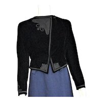 Beautiful Black Velvet Fancy Bolero Jacket