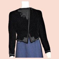 Beautiful Black Velvet Fancy Bolero Jacket
