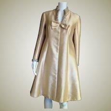 Outstanding Silk Mini Dress With Fancy Trim