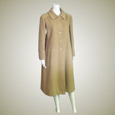 Outstanding Vintage Camel Hair Long Coat