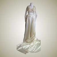 Spectacular Late '40's Wedding Dress