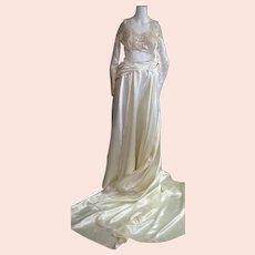 Spectacular Late '40's Wedding Dress