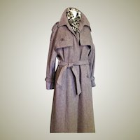 Extraordinary Vintage Wool Long Coat
