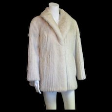 New Mark Down Stunning White Mink Vintage Coat With or Without Belt