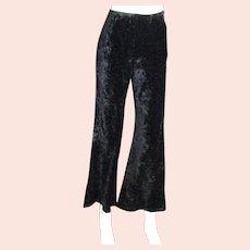 1970's Bell Bottom Crushed Velvet Pants