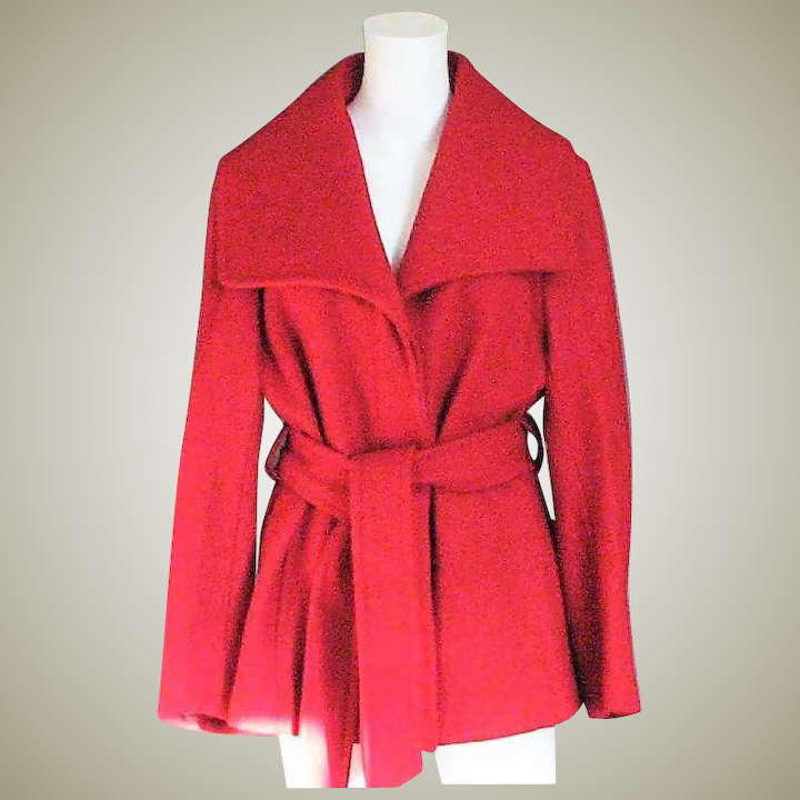 best prices cheap sale reputable site Red Wool Marvin Richards, New York Coat