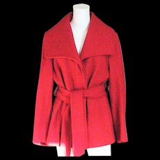 Red Wool Marvin Richards, New York Coat
