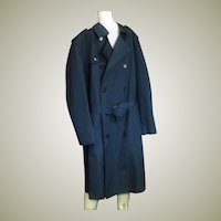 Men's Misty Harbor Double Breasted Zip Out Lining All Weather Navy Blue Coat