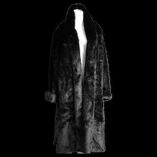 Amazing Long Faux Mink Coat