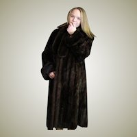 Luxurious Full Length Mink Fur Coat.